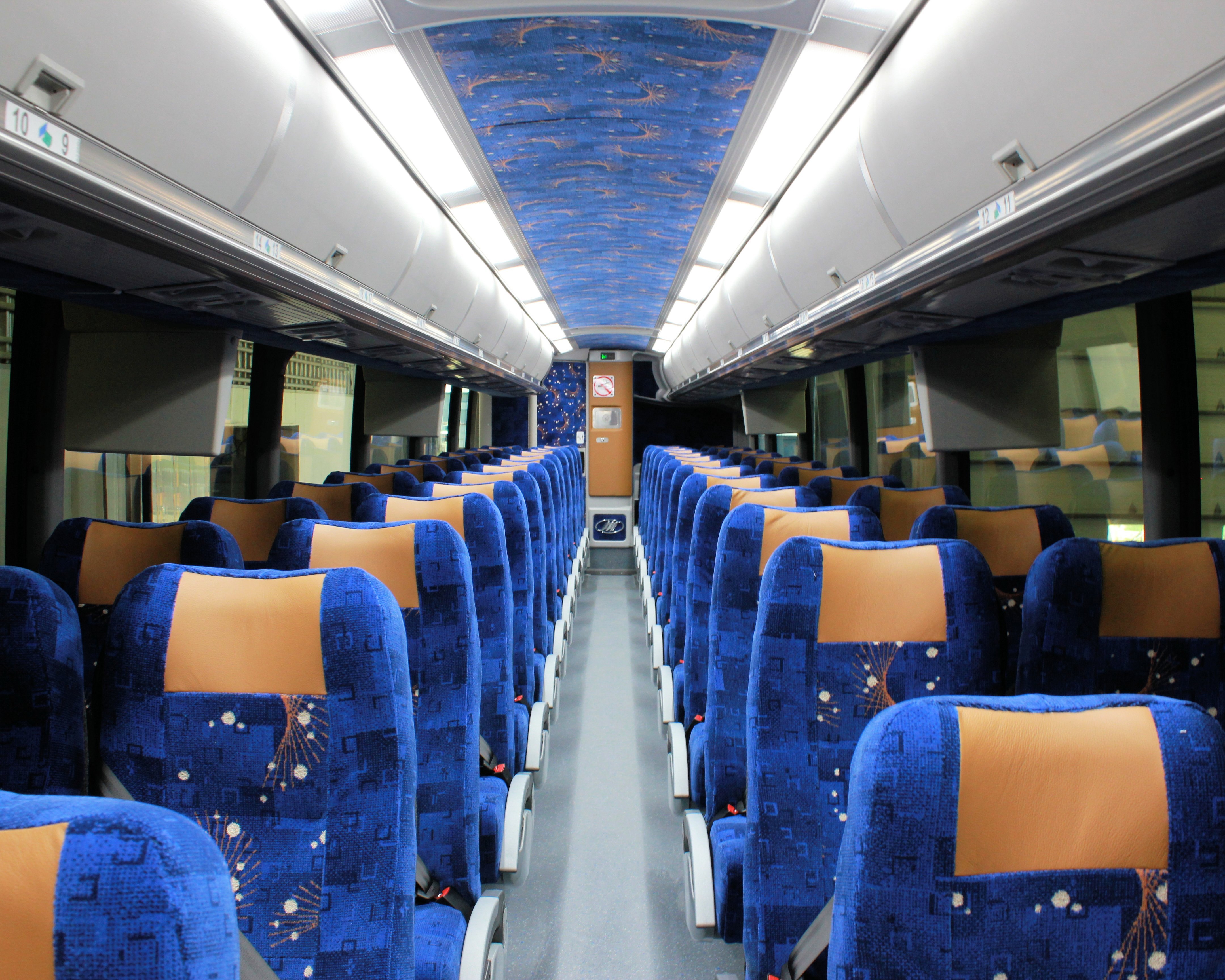 Coach bus interior